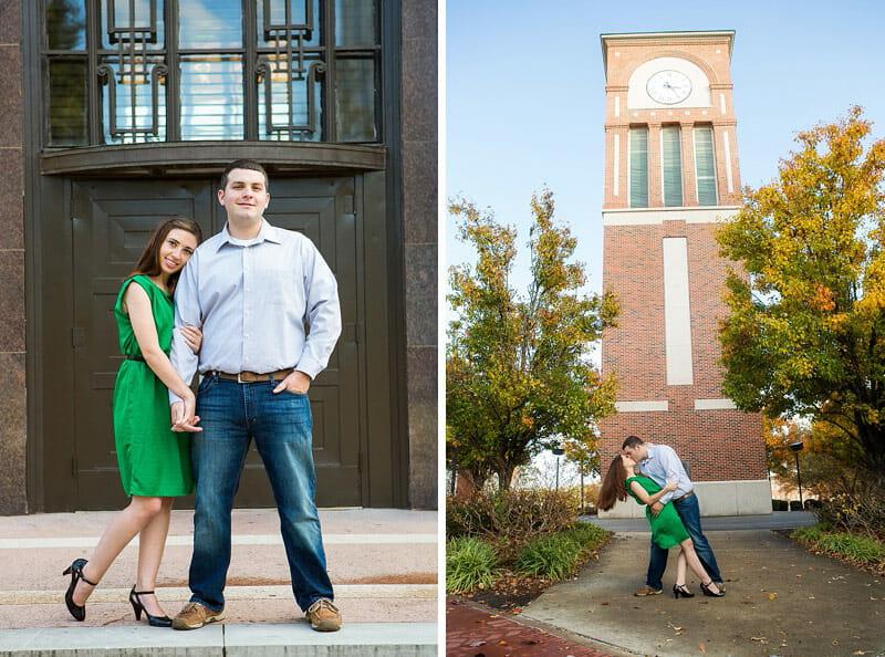 Hilary And Mark Engagement Photos At Louisiana Tech 15