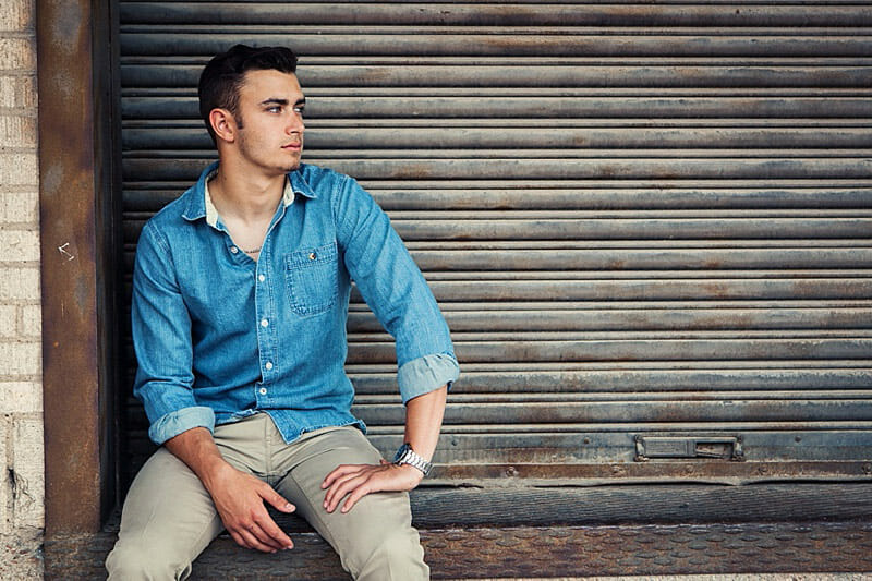 Chandler Senior Pictures T And P Train Station 27