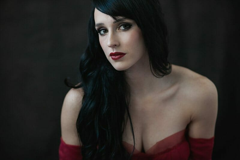 Glamour Portraits Of A Woman In A Red Dress