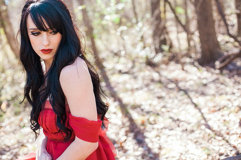 Glamour Portraits Of A Woman In A Red Dress 12